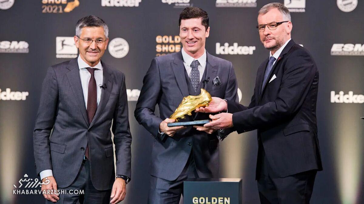 کفش طلای روبرت لواندوفسکی در فصل 2021-2020
