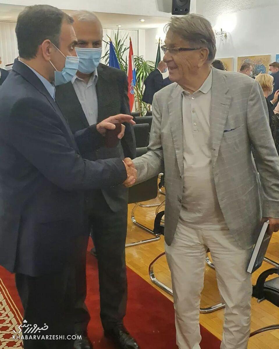 عکس| دیدار سفیر ایران در کرواسی با بلاژویچ