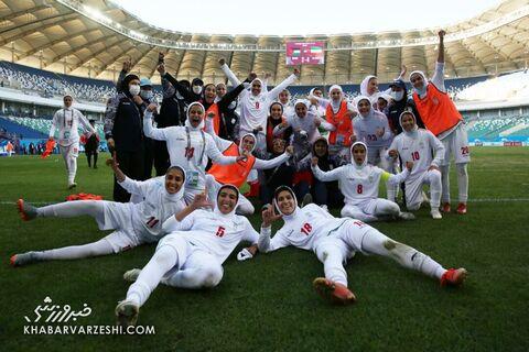 جشن صعود تیم ملی زنان ایران به جام ملتهای آسیا
