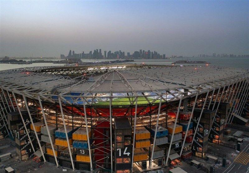 عکس  ابتکار جالب قطریها در ساخت ورزشگاه/ استادیومی که بعد از جام جهانی ناپدید میشود