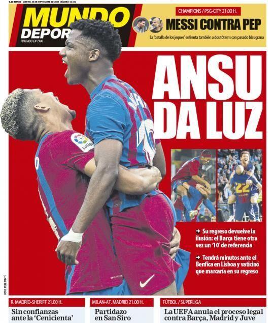 روزنامه موندو| آنسو روشنایی آورد