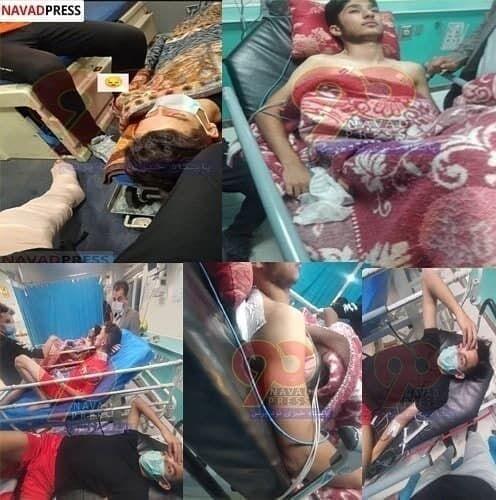 عکس| حمله مرگبار هواداران به بازیکنان در زمین بازی/ نبرد خونین در فوتبال تبریز؛ ۷ مجروح و یک نابینا