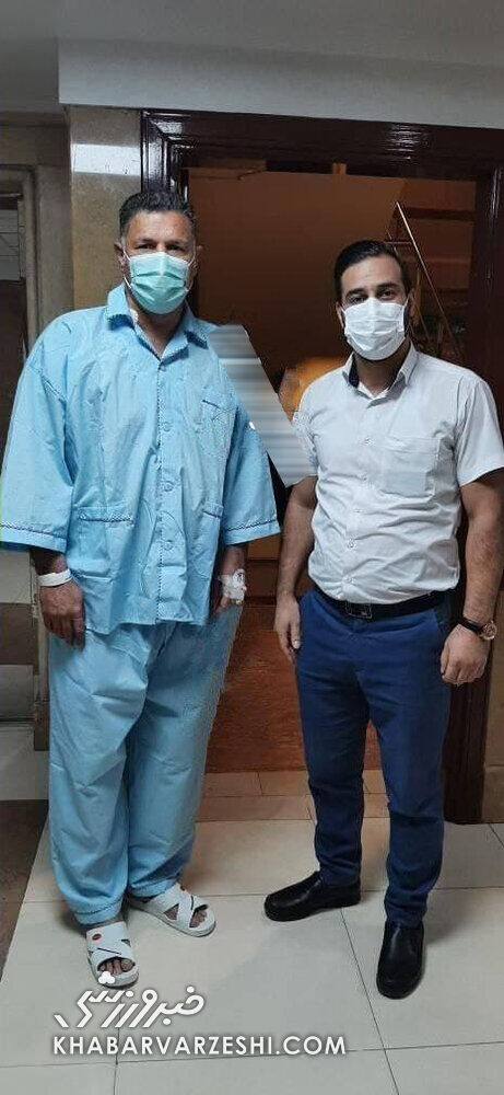 عکس| علی دایی در بیمارستان بستری شد