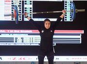 ببینید  دختر ایرانی در لحظه بلند کردن وزنه/ فریاد غزاله حسینی و کسب مدال جهانی وزنهبرداری
