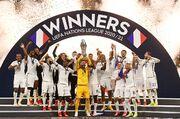 ویدیو  اهدای جام قهرمانی لیگ ملت های اروپا به فرانسه