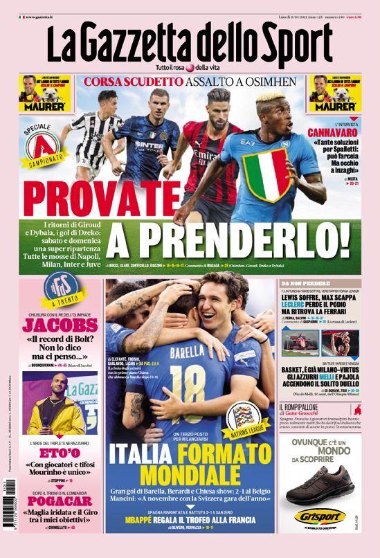 روزنامه گاتزتا| قالب جهانی ایتالیا