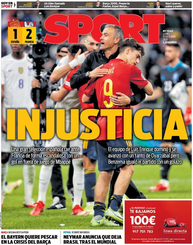 روزنامه اسپورت| بیعدالتی