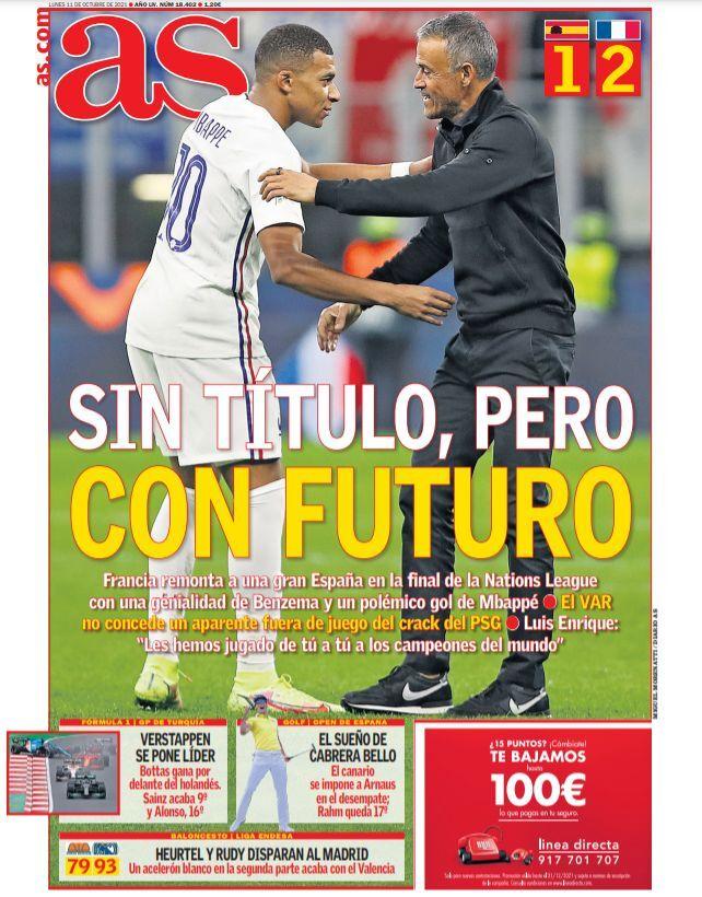 روزنامه آ اس| بدون جام، اما با آینده