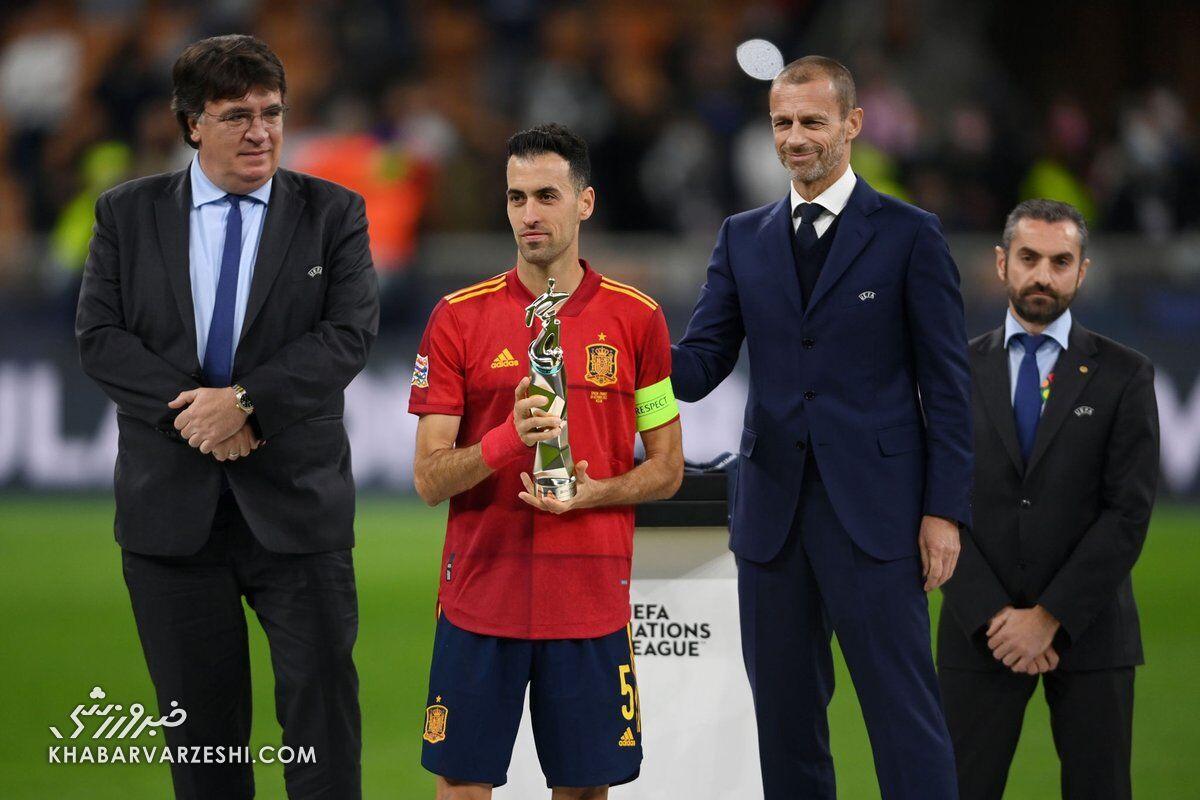 سرخیو بوسکتس (بهترین بازیکن لیگ ملتهای اروپا 2021)