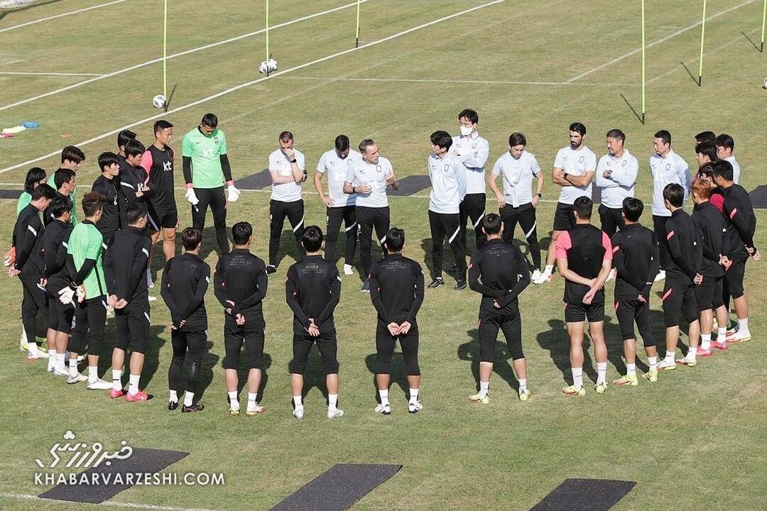 تمرین تیم ملی کرهجنوبی در تهران