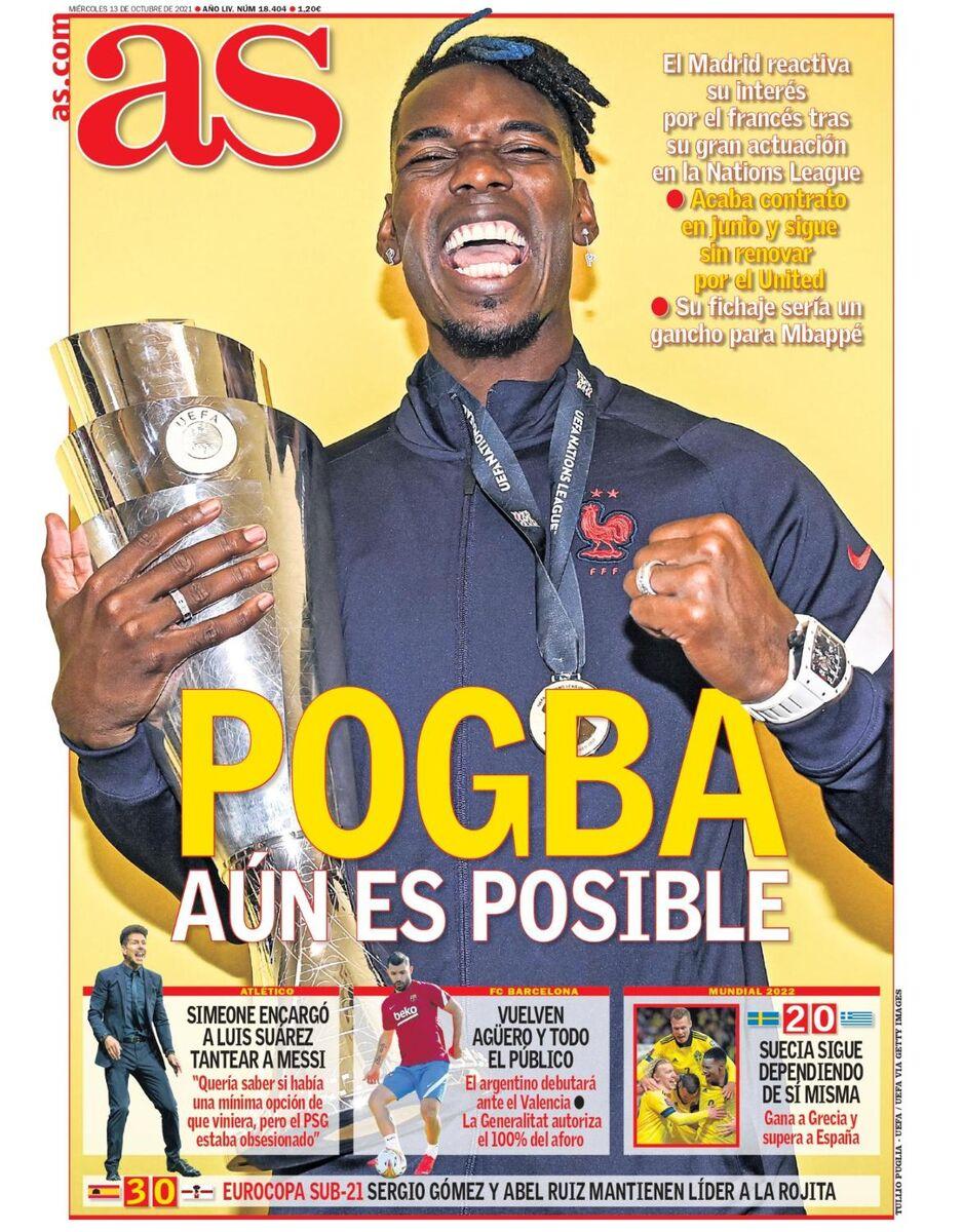 روزنامه آ اس  پوگبا هنوز امکانپذیر است