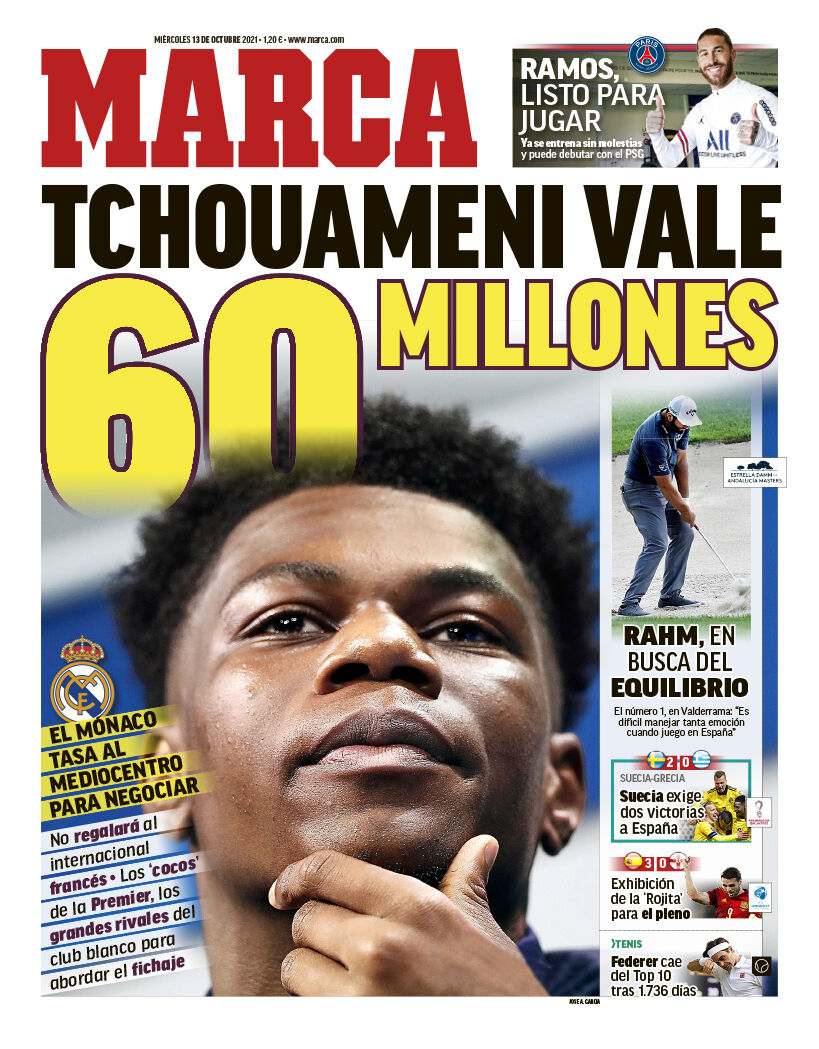 روزنامه مارکا  شوامنی ۶۰ میلیون یورو ارزش دارد