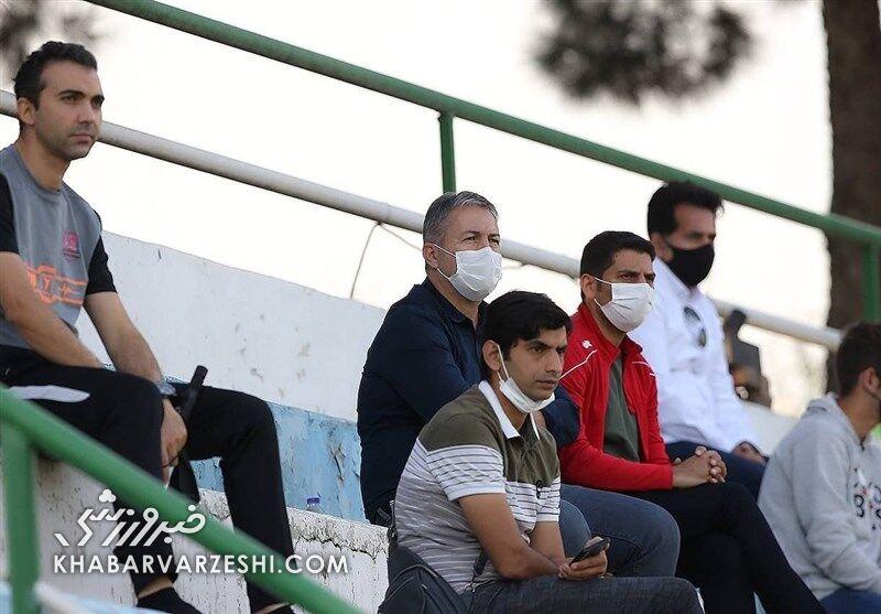 عکس| اسکوچیچ مهمان دیدار دوستانه سپاهان و نساجی