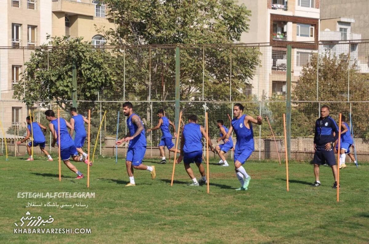 تمرین استقلال زیر نظر مجیدی/ یک بازیکن آبیها برگشت