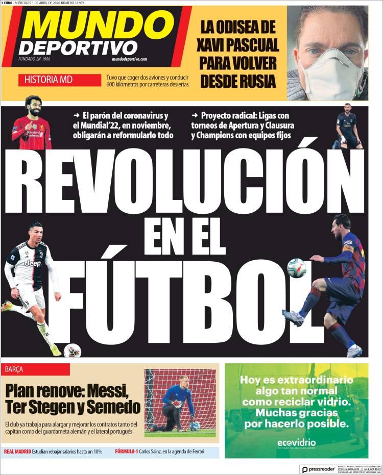 روزنامه موندو| انقلاب در فوتبال