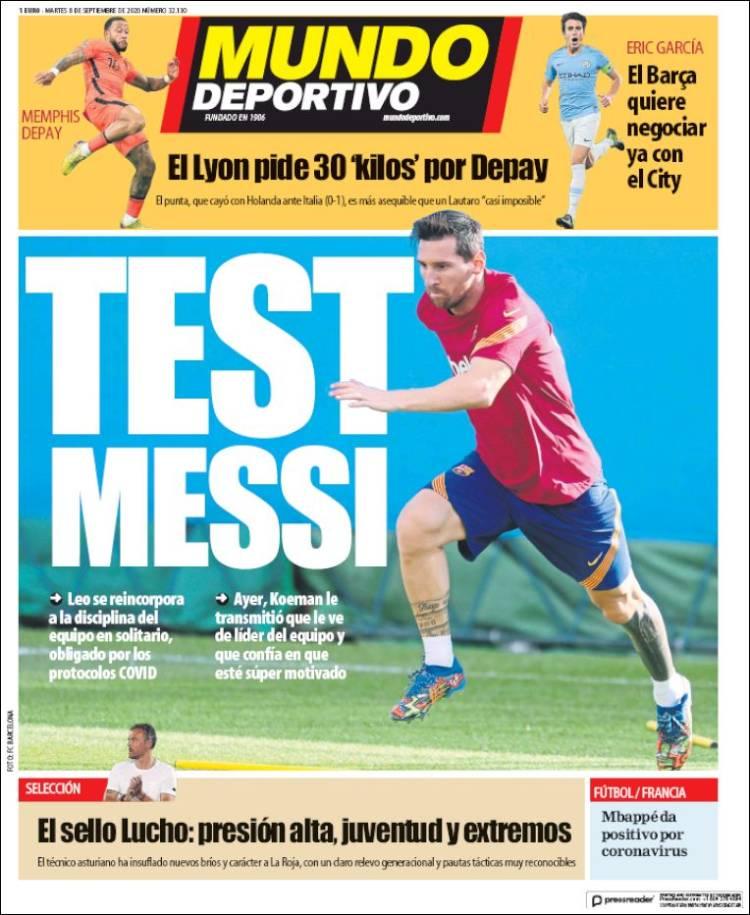 روزنامه موندو| تست مسی