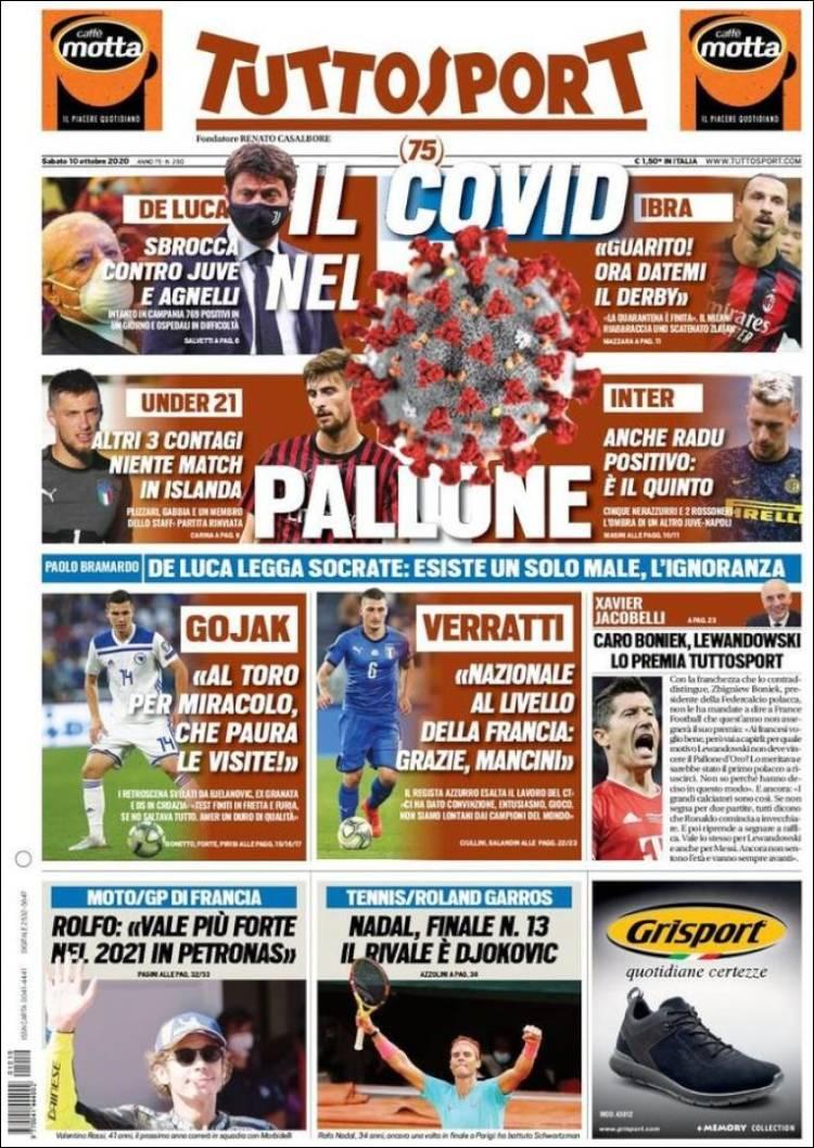 روزنامه توتو| کووید فوتبال را تصاحب میکند