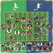 طرح  ترکیب برترین بازیکنان چپ پا و راست پای تاریخ فوتبال