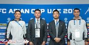 فغانی در مراسم رونمایی از VAR در جام ملتهای آسیا
