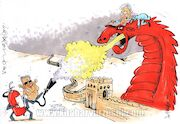 کارتون| آتش اژدها را خاموش میکنیم