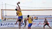 اوج رامسر نایبقهرمان والیبال ساحلی ایران شد