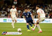 جدال برابر ایران و ژاپن در نیمه اول