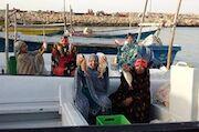 برگزاری مسابقه ماهیگیری ویژه بانوان در جزیره هنگام