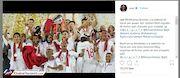 عکس  ژاوی، مفتخر از قهرمانی قطر