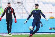 تمرین اختصاصی بیرانوند قبل از بازی با استقلال خوزستان