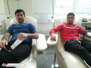 عکس| دو پرسپولیسی خون دادند