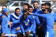 گزارش تصویری| شادابی بازیکنان استقلال در تمرین