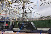 عکس| رونمایی از مجسمه بکام در لسآنجلس