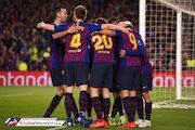 صعود بارسلونا با درخشش مسی