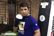 مبارزه کاپیتان تیمملی کاراته روی رینگ