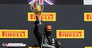 عکس| همیلتون با لاستیک پنچر قهرمان شد!