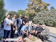 عکس| اهالی تکواندو بر سر مزار فتحی