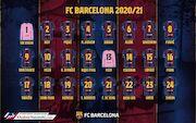 عکس| شماره بازیکنان بارسلونا در فصل جدید