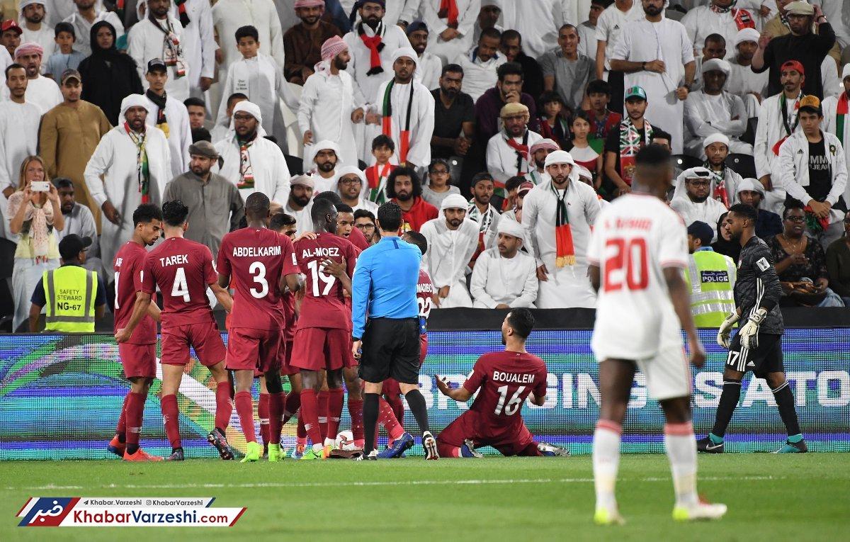 قطر امارات را له کرد و فینالیست شد