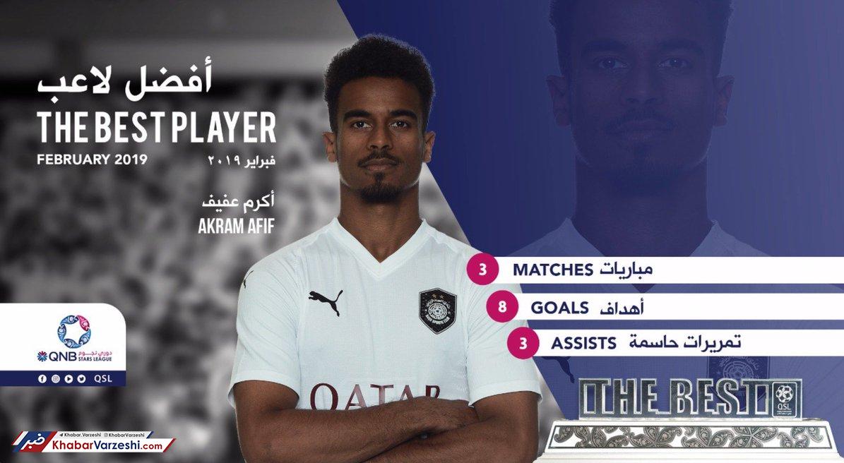 عکس| بازیکن و سرمربی رقیب پرسپولیس بهترینهای ماه قطر شدند