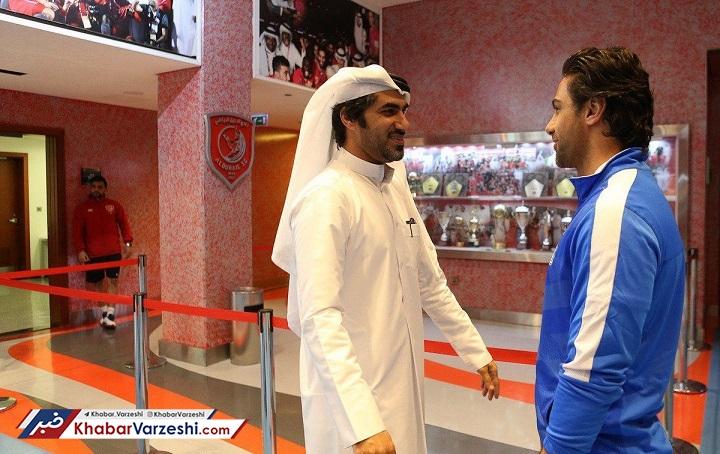 عکس| استقبال ویژه قطریها از مجیدی