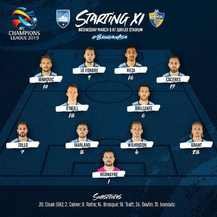 عکس  قوچان نژاد در ترکیب سیدنی در لیگ قهرمانان آسیا