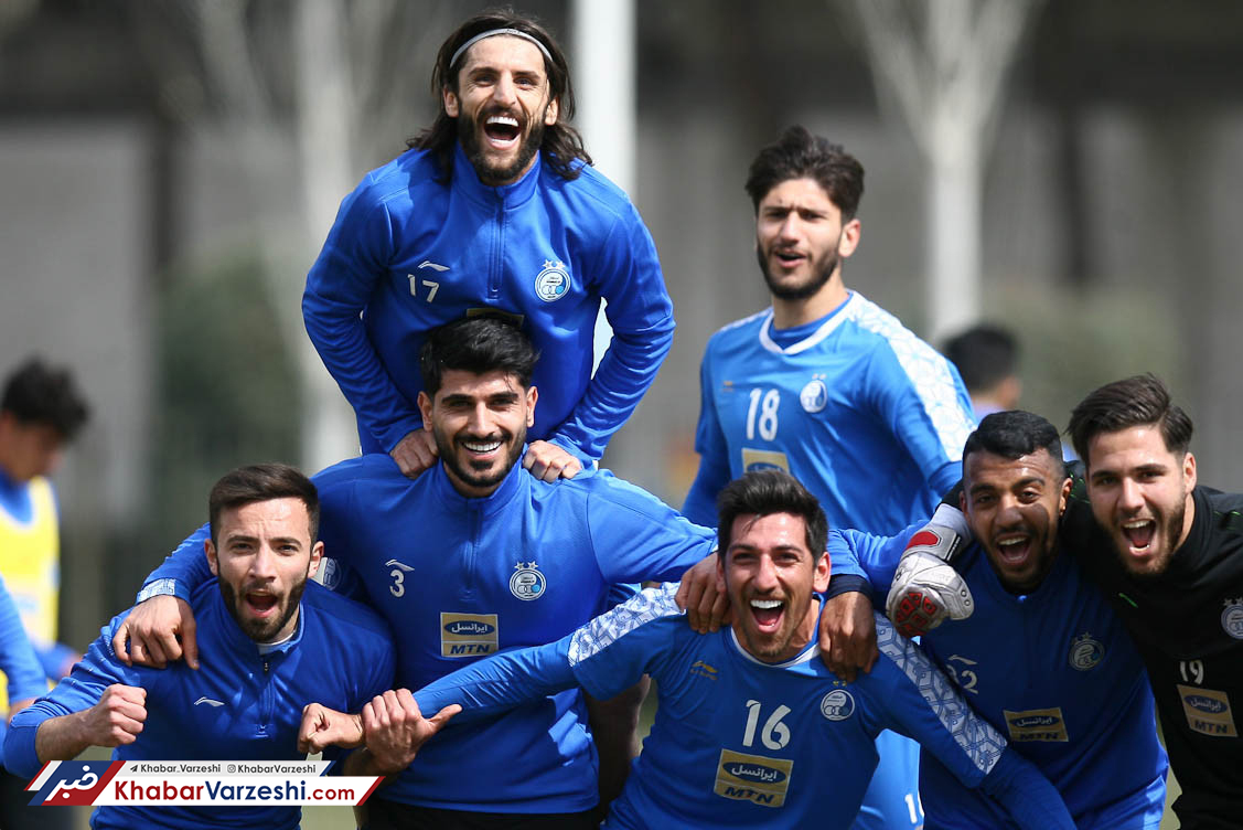 گزارش تصویری| روحیه بالای بازیکنان استقلال در تمرین