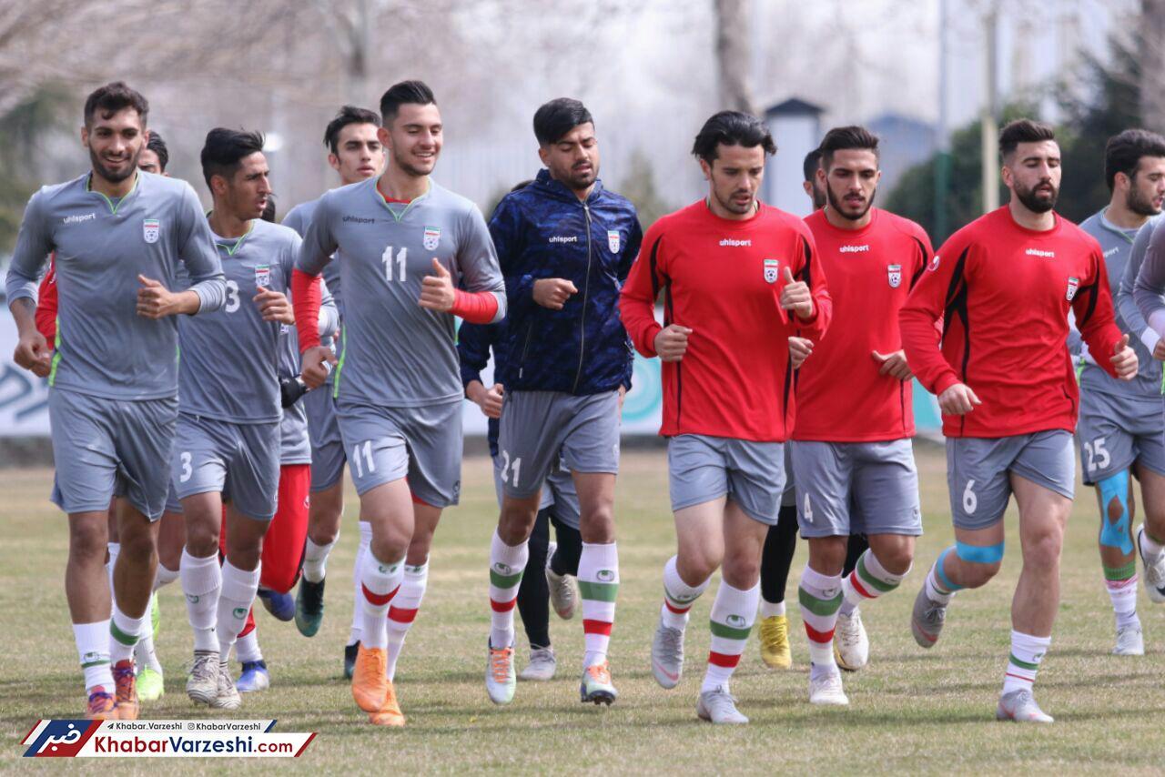 گزارش تصویری| تمرینات تیم ملی امید با حضور استقلالی ها