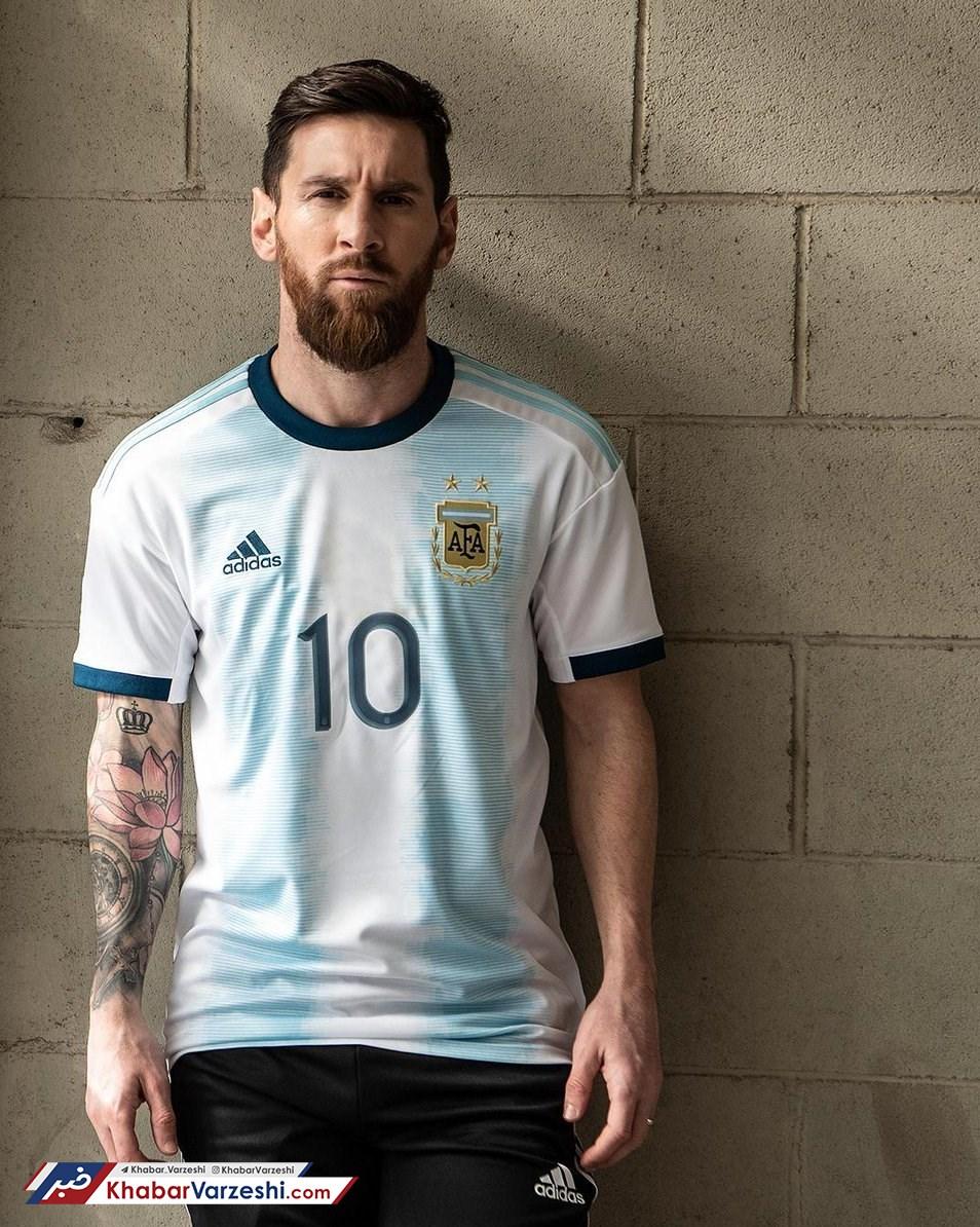 عکس  رونمایی از پیراهن جدید و خاصِ آرژانتین