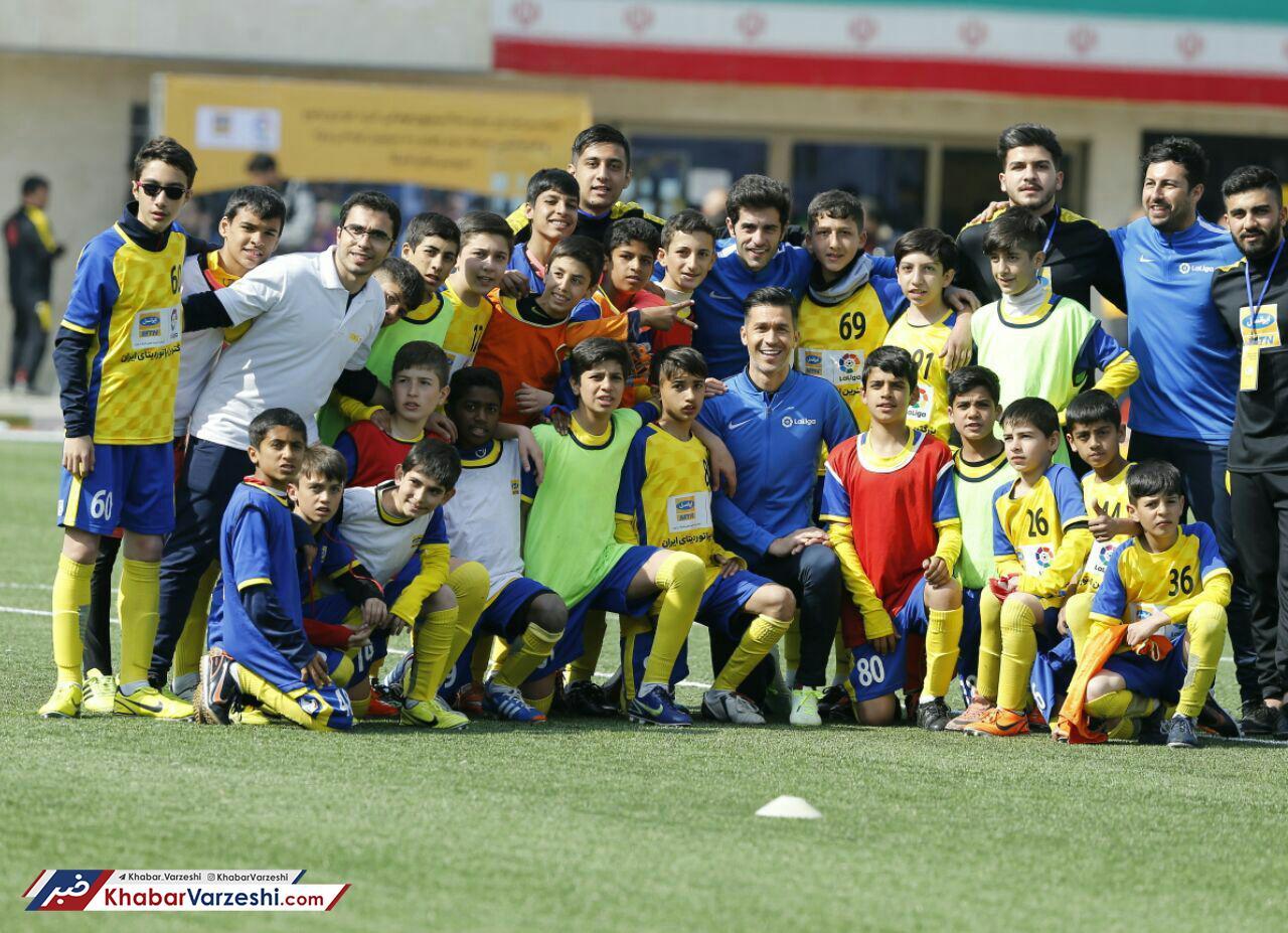 گزارش تصویری| آکادمی فوتبال ایرانسل, لالیگا و کنفرانس خبری لوییز گارسیا