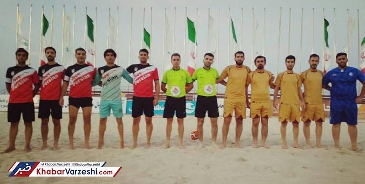آغاز مسابقات فوتبال ساحلی در کیش