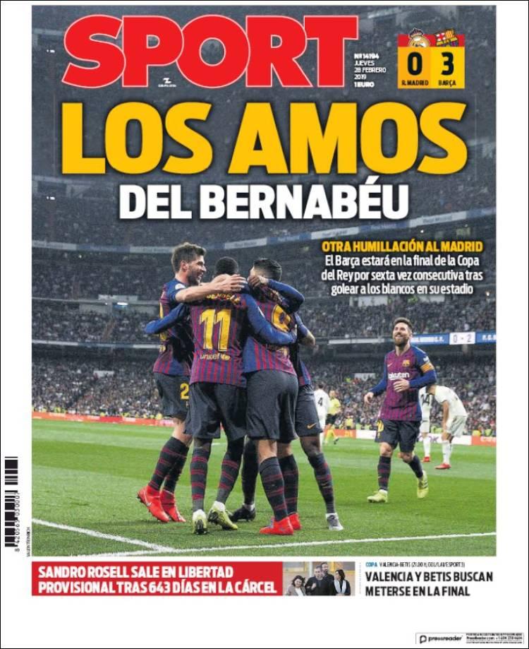 روزنامه اسپورت| استادانِ برنابئو