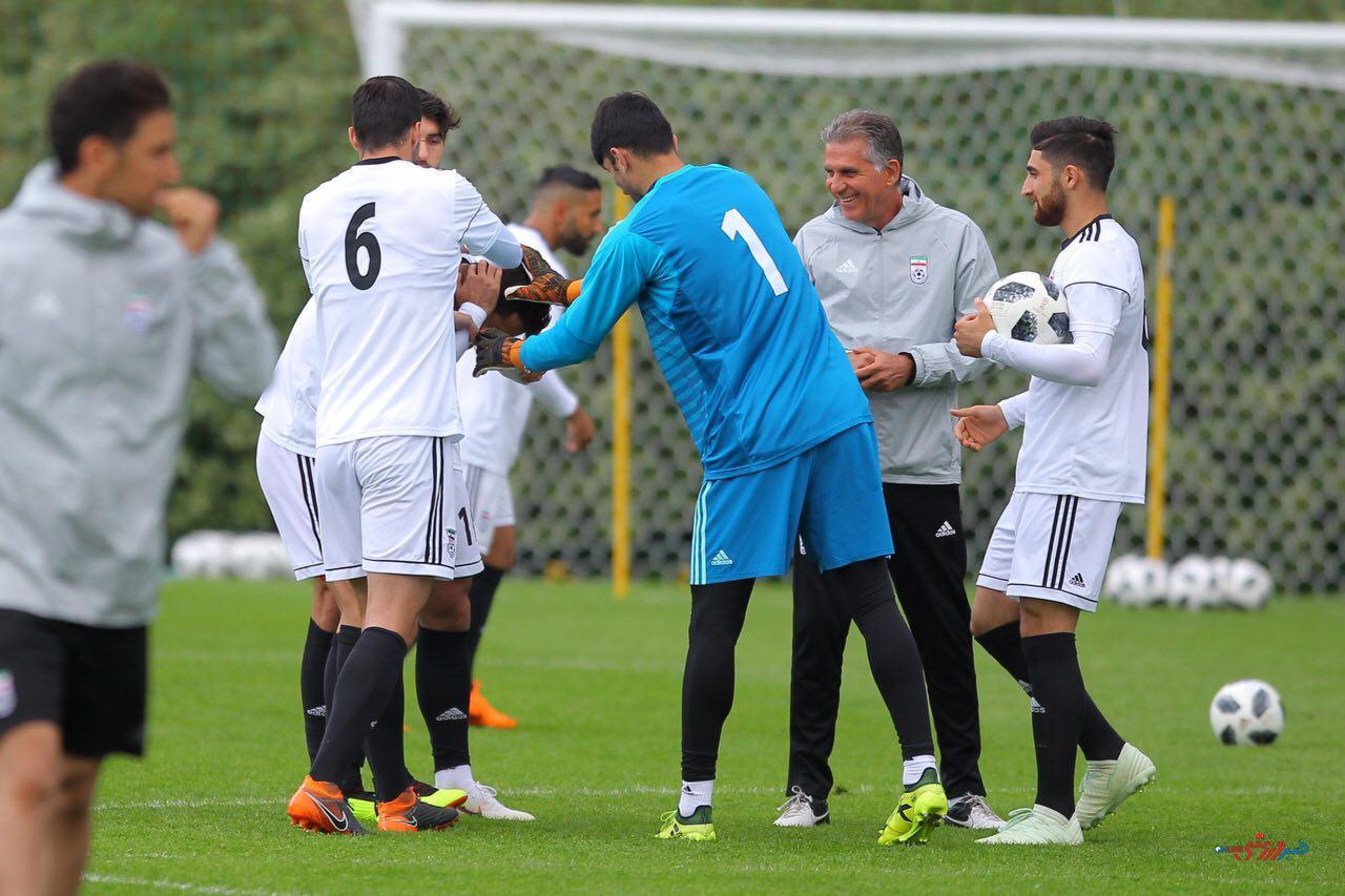 گزارش تصویری  تمرین شاداب تیم ملی زیر نظر کی روش