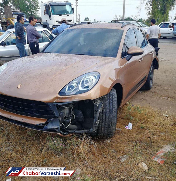 عکس| سردار آزمون دچار سانحه رانندگی شد