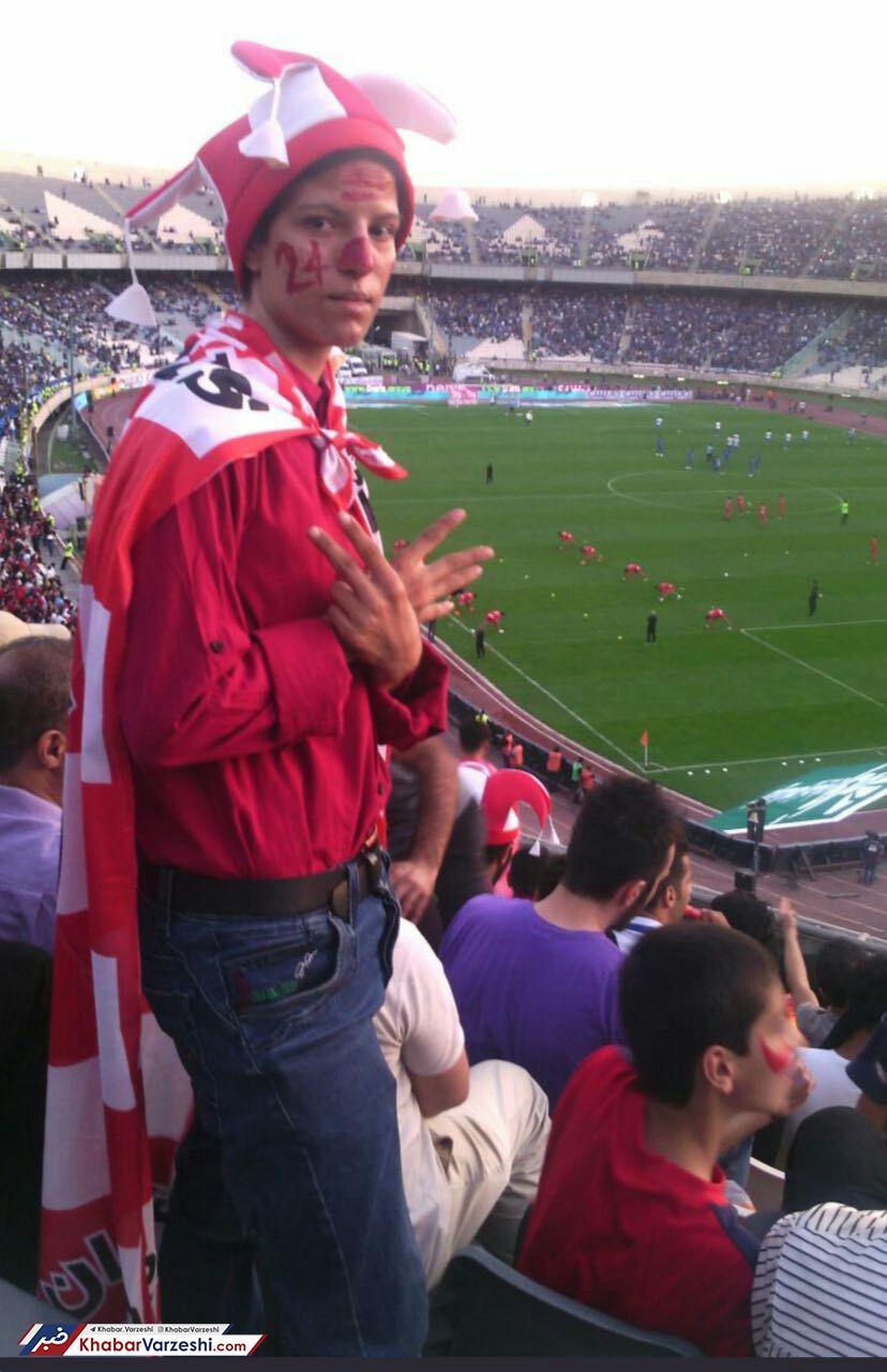 Image result for عکس ؛ ورود بانوی پرسپولیسی به ورزشگاه آزادی در دربی!